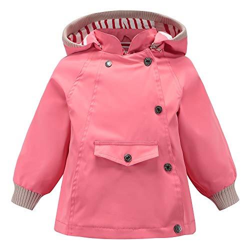 Echinodon Kinder Outdoorjacke Wasserabweisend Winddicht Jacke Mädchen Jungen Funktionsjacke Wanderjacke Regenjacke Rosa 120