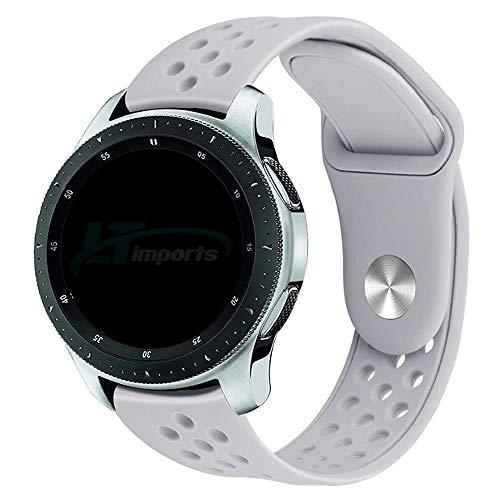 Pulseira Sport Total 22mm compatível com Samsung Galaxy Watch 3 45mm - Galaxy Watch 46mm - Gear S3 Frontier - Amazfit GTR 47mm - Huawei Watch GT 2 46mm - Marca LTIMPORTS (Cinza)