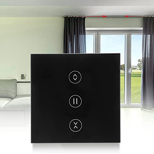 Interruptor de Cortina táctil, bajo Consumo de energía Interruptor de Cortina Anti-Rayos en Espera Seguridad sin demora con Control de Voz para Hotel para el hogar para la Oficina