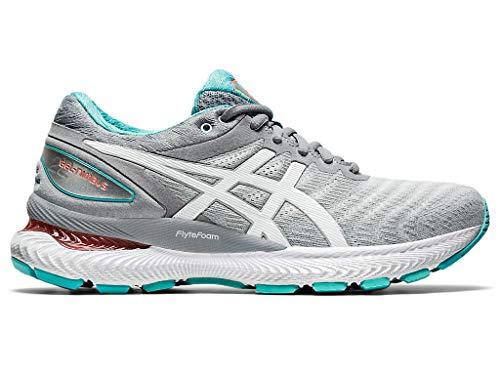 ASICS Women's Gel-Nimbus 22 Running Shoes, 10M, Sheet Rock/White