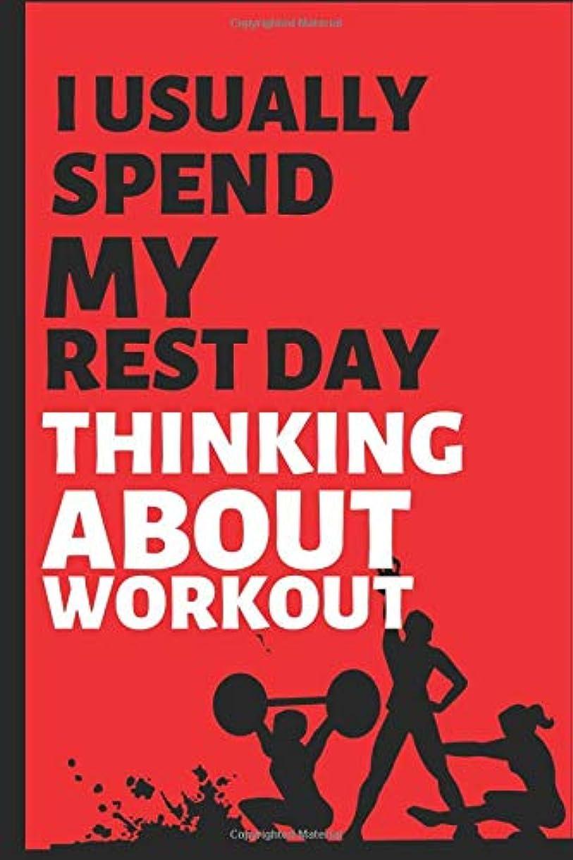 泣いているバンドル軽蔑Thinking About Workout: Workout, Weight Loss and Exercise Blank Log Book & Fitness Notebook Journal/Planner ( 6