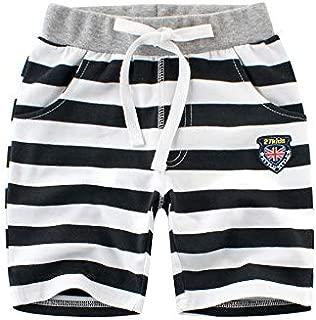 COODIO Children Unisex Stripes Pattern Middle Length Cotton Pants-hot