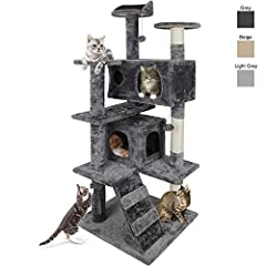 🍃Your feline friends need a cozy home of their own to take a rest, play around and just be as active as they want, Nova Cat Tree is sure to be their dream-come-true! No need to go out, your cat can also enjoy the same happiness as in the tree! Your c...