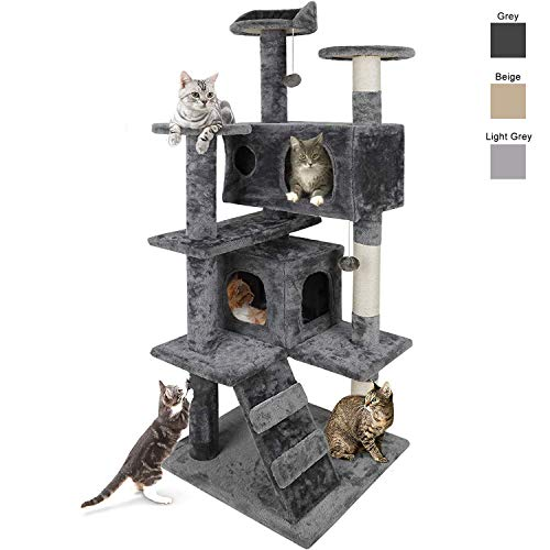 Nova Microdermabrasion 53 Inches Multi-Level Cat Tree Stand House Furniture...