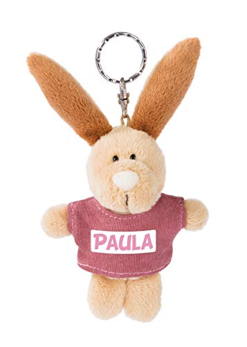 NICI 44656 - Llavero de conejo con camiseta Paula (10 cm), color beige
