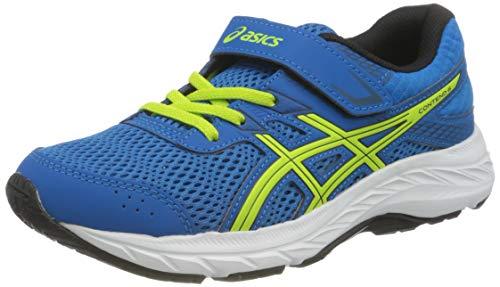 ASICS Unisex-Child Contend 6 Running Shoe, Directoire Blue/Lime Zest,35 EU