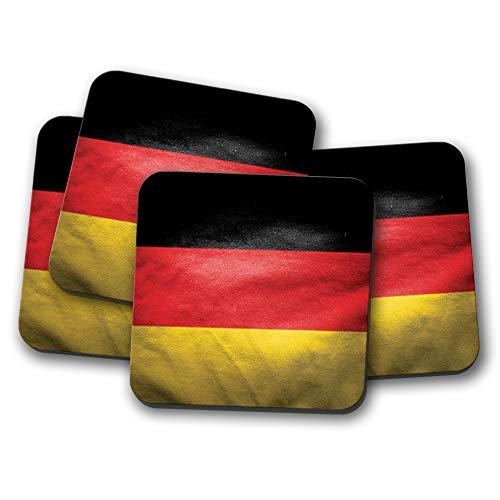 4er Set - Awesome Deutschland Flagge Untersetzer - Deutschland Berlin Reise Souvenir Geschenk #12547