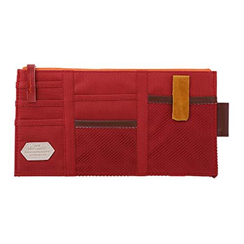 dljztrade Mode Auto Zon Visor Pocket Organizer Pouch CD Card Houder Hangende Tas Multifunctioneel (1st) Wijn Rood