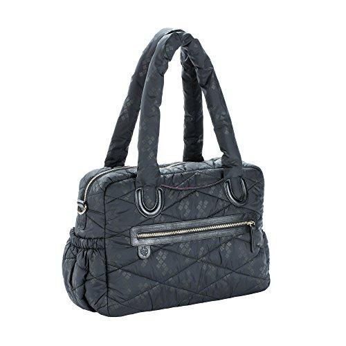 Lässig 1101013002 Wickeltasche Glam  Bowler Bag Pacific Flower, schwarz