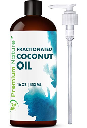 Fractionated Coconut Oil Massage Oil - Cold Pressed Pure MCT Oil for Essential Oils Mixing Dry Skin...