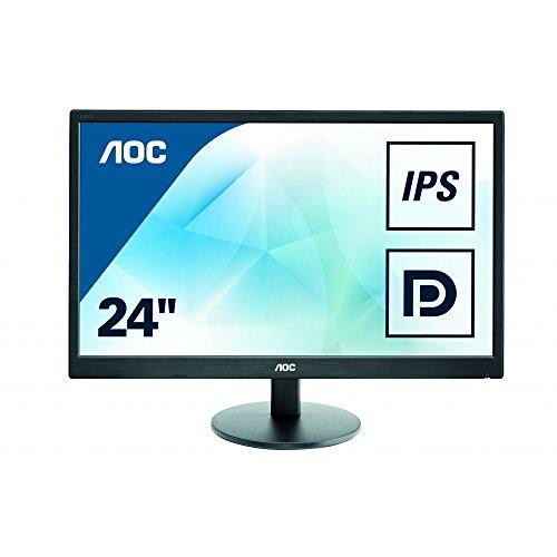 AOC i2470Swq 60,45 cm (23,8 Zoll) Monitor (VGA, DVI-D, HDMI, 5ms Reaktionszeit, 16:10, 1920 x 1080) schwarz