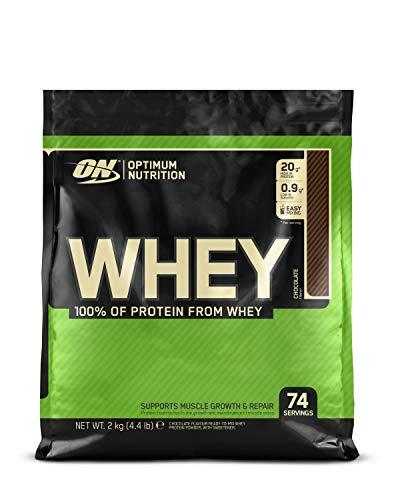Optimum Nutrition ON Whey Protein Pulver, Eiweißpulver Muskelaufbau, Protein Shake mit 20g Protein pro Portion, Chocolate, 74 Portionen, 2kg