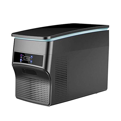 WANNA.U Nevera de coche a casa con compresor de doble uso y refrigerador mini congelador 12 V/24 V coche camión 220 V hogar nevera portátil