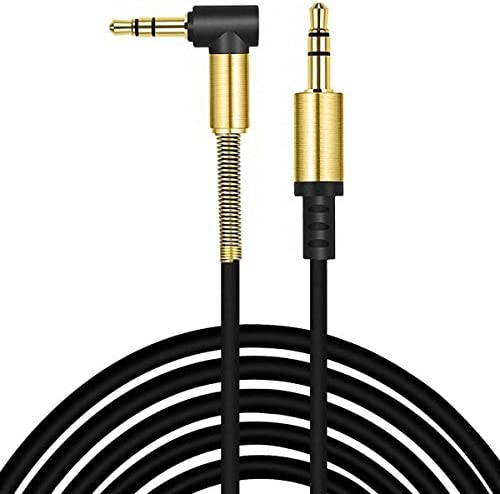 ULTRICS AUX Audio Cable 2M, Premium 3.5mm Auxiliary Lead, Male to Male Right Angle Stereo Jack Cord Compatible with iPhone iPod iPad Samsung Smartphone Tablet MP3 Player Speaker Headphones Home Car