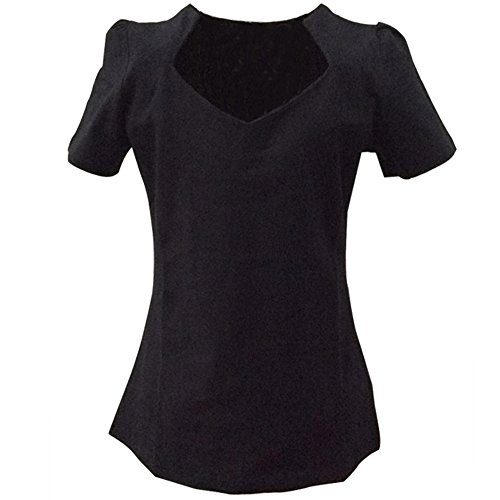 Para Mujeres 50s Pinup Design Negro Tops Cortocircuito Corazones XX-Large
