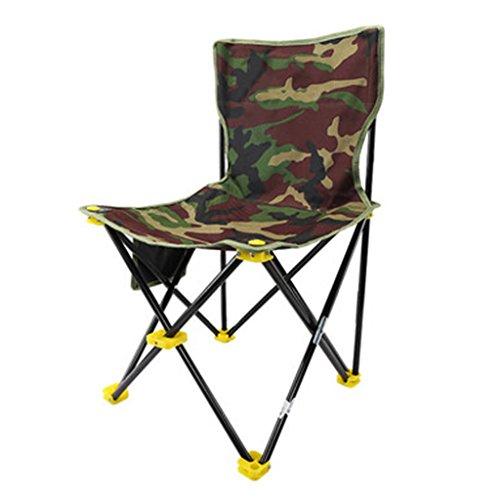 Chaises pliantes Jardin et Patio Chaise de pêche Chaise de Camping Chaise de pêche Camping Chaise de Repos Plier Tabouret de pêche Portable (Color : Green, Size : 41 * 40cm)