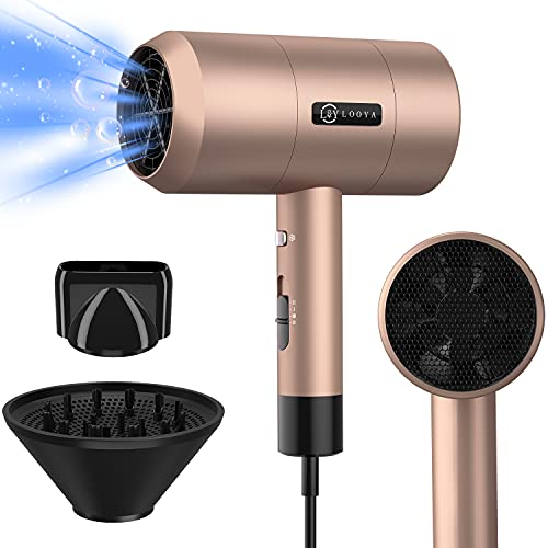Ionic Hair Dryer, 2000W Powerful Hair Dryers Fast Dry Dryer, 57°C Function...