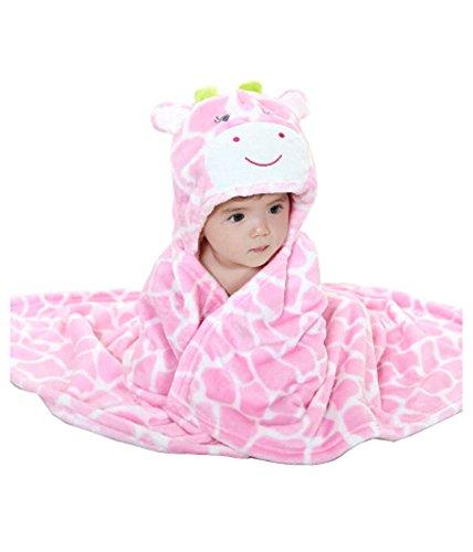 Baby flanel deken/baby lente en zomer quilt/baby badjas roze koe
