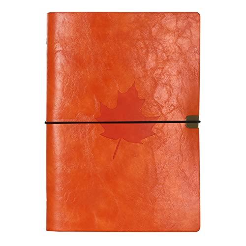 Cuaderno de Cuero,A5 Diario de Cuero,Cuaderno de Viajeros Recargable Vintage Diario de Viaje Regalos para Estudiante Profesor