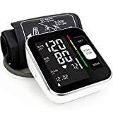 Blood Pressure Monitor Automatic Upper Arm Machine & Accurate Adjustable Digital BP Cuff Kit Large Backlit Display 240 Sets Memory Includes Charging Cord