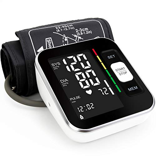 """Blood Pressure Monitor Upper Arm Automatic Digital BP Meter 2x120 Reading Memory Voice Broadcast Backlight Display 8.7""""-15.7""""Wide Range Cuff Fast Reading for Home Use"""