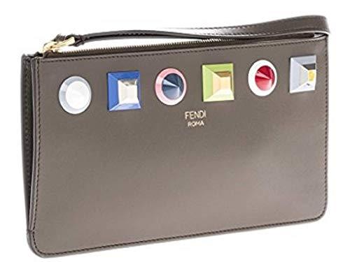 Fendi Asphalt Gray Rainbow Collection Damen-Handgelenk, Kalbsleder, 8m0341