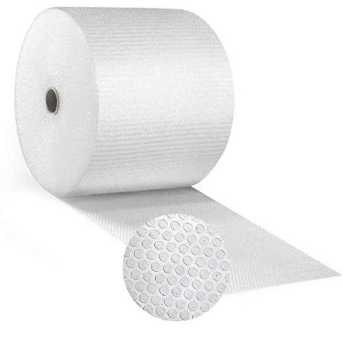 Papel burbujas embalaje 【50 cm de ancho x 100 m lineales】rollo de plastico de triple capa, mayor resistencia y durabilidad, ideal para amortiguar cualquier producto