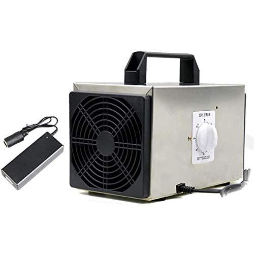 AN Ozonizador,Generador de ozono para Coche 10000mg Industrial O3 Purificador de Aire Desodorante Esterilizador con Enchufe y Adaptador para automóvil