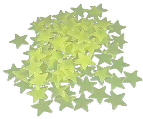 Ultra Brighter Glow in The Dark Stars for Kids - Special Deal 100 Count, Amazing for Children and Toddler Decorations Wall Stickers for Boys Room! (Yellow)