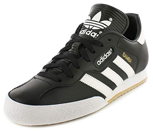 Adidas Samba Super Herren Textil Fußballschuhe Indoor Hallen Fußball Schuhe Leder - EU 46, Schwarz, Synthetik