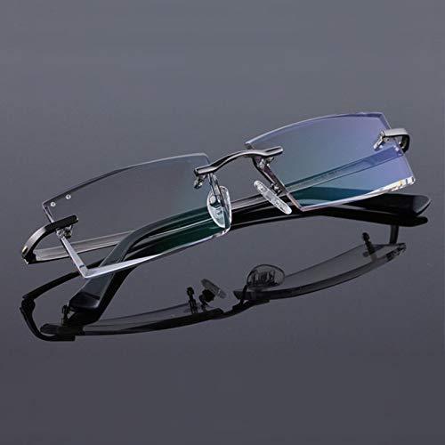 YMTP Titanium Randlose Diamant Schneiden Mann Brillengestell Optische Brillen Männer Brillen