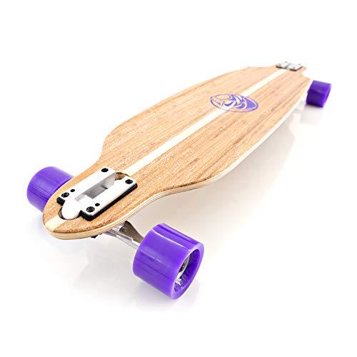 White Wave Bamboo Longboard Skateboard Complete (Bandit)
