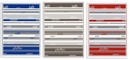 Triolino 000809 halflinnen theedoeken zout en peper in 3-pack in 3 kleuren maat 50 x 70 cm, kleur: gesorteerd op kleur 50 cm x 70 cm gesorteerde kleuren