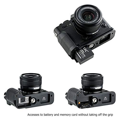 JJC Handgriff Kameragriff Metall L-Platte Schnellwechselhalterung für Fujifilm Fuji X-T30 X-T20 X-T10 ersetzt Fujifilm MHG-XT10 Handgriff