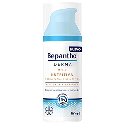BEPANTHOL Derma Nutritiva Crema Facial Hidratante De Día Con Spf25, Piel Seca Y Sensible, 50 Mililitro