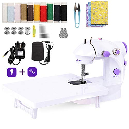 LMYJ Mini Sewing Machine with Extension Table and Sewing Machine...