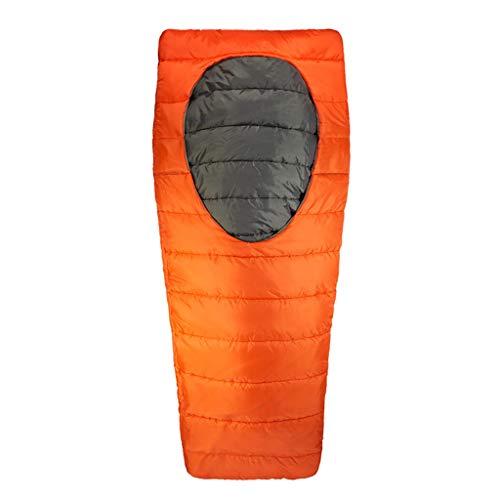 CATRP-Sac de couchage Ovale Coton Ouvert Au Milieu Adulte Camping en Plein Air Intérieur Déjeuner Pause Hiver Sac De Couchage Chaud (Color : Orange, Size : M)
