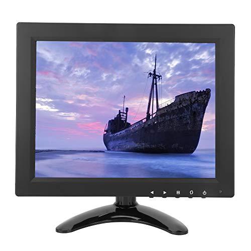 Diyeeni 9,7 Zoll HDMI Monitor, CCTV Monitor 1024x768 HD IPS Breit Blickwinkel mit HDMI/VGA/BNC/AV/USB, für Haus Sicherheit, CCTV Kamera, PC-Anzeige