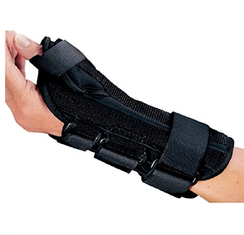 DJO Wrist Splint with Abducted Thumb, Foam/Lycra, Left Hand, Medium, Black