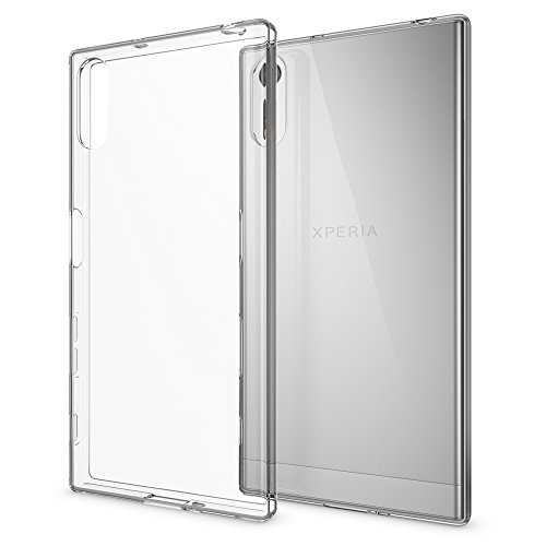 NALIA Handyhülle kompatibel mit Sony Xperia XZ, Slim Silikon Motiv Hülle Phone Cover Crystal Schutzhülle Dünn Durchsichtig, Etui Handy-Tasche Backcover, Transparenter Bumper - Transparent