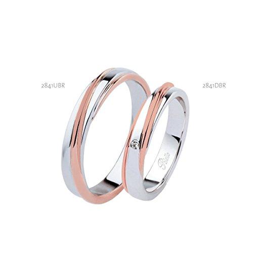 Fedi Polello In Oro Bianco E Rosa 18ct 750/1000 Con Diamanti