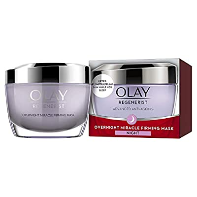 Olay Regenerist Night Cream, Overnight Miracle Firming Mask, Overnight Face Mask with Niacinamide & Peptides, 50ml from Procter Gamble