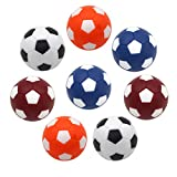 Calcio Balilla,8 PCS Calcio Balilla Palline per Calcetto biliardino Colorati Mini da Calcio da Tavolo Gioco Palline per Profesisonale per Bambini Adulti 36MM