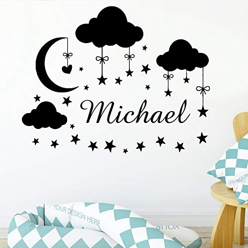58x73cm cloud wall sticker removable name wallstickers wallpaper for home decoration kids room bedroom wall decor