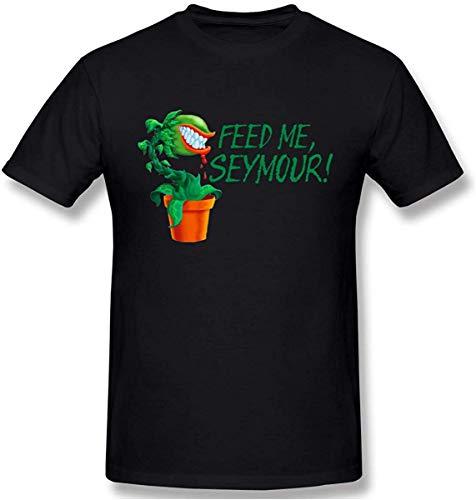 Whgdeftysd Feed Me Seymour Graphic Design T-shirt met korte mouwen voor heren
