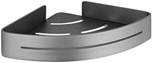 WENKO Hoekplank Montella - houder voor schroeven, roestvrij, aluminium, 30 x 5 x 22 cm, antraciet