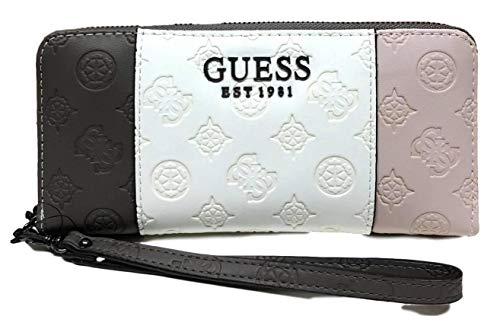GUESS dames Ilenia Peony Logo Large Zip Around Wallet portemonnee