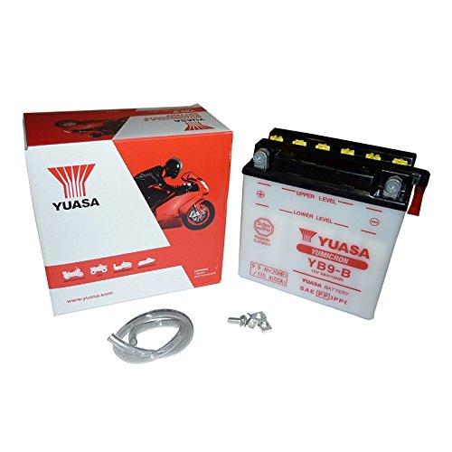 YUASA YB9-B Powersports AGM Motorrad Yumicron Batterie, 9,5 Ah(20 Std.), 0,9 Ladestrom