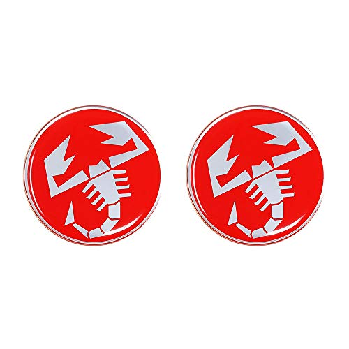 Abarth Autocollant 3D Scorpions, Lot de 2, 21 mm