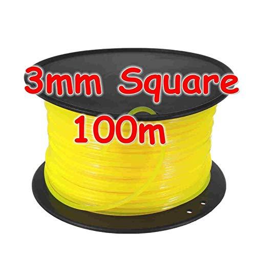 XIAOFANG Fangxia Store M10 2 Líneas Cabeza de Corte de Aluminio de Nylon desbrozadora Bump Carrete Cortadora de cesped Tema Cadena de líneas Saw Grass desbrozadora Universal (Color : Line)
